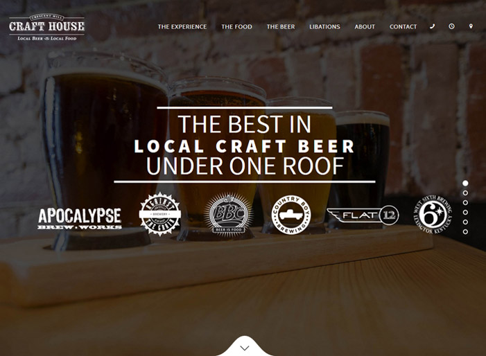 Louisville web design portfolio : Crescent Hill Craft House