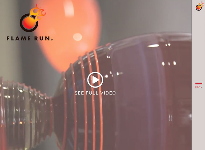 Louisville web design portfolio : Flame Run