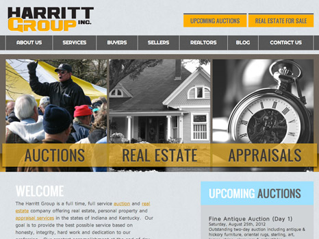 Louisville web design portfolio : Harritt Group