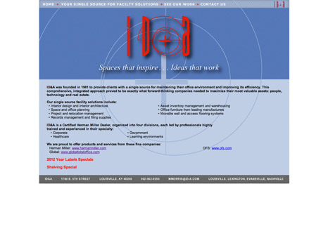 old website design