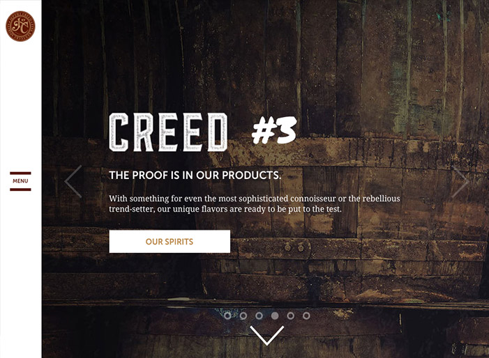 Louisville web design portfolio : Jeptha Creed