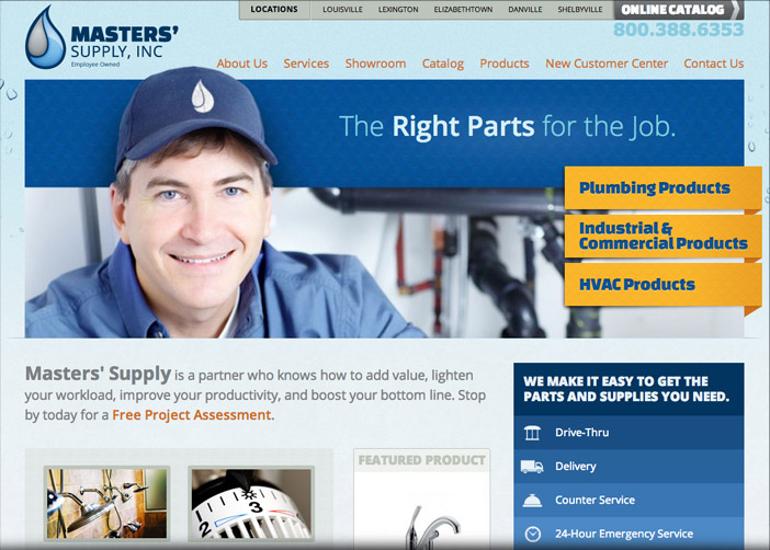 Louisville web design portfolio : Masters' Supply