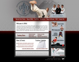Site Design for Louisville Martial Arts Academy